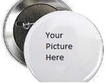 personalized photo button 2.25""