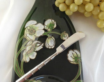 Repurposed Magnum Champagne Bottle Cheese Tray