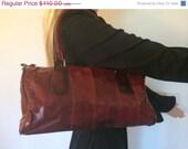 ON SALE Vintage Eel Skin Handbag/Purse