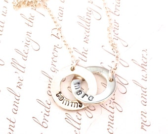 Personalised Circles Pendant.