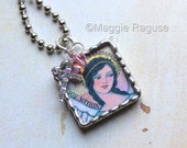 Joyful Angel Soldered Pendant Necklace from original painting by Maggie Raguse