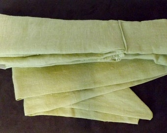 263 Seafoam Green 100% Linen with Fringe Long Head Band Scarf