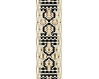 Gold Luster Peyote Cuff Bracelet Pattern
