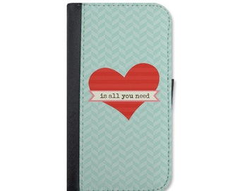 All You Need Is Love Wallet Case Choose iPhone 4/4s, 5/5s, 5c, 6/6s, 6/6s Plus, 7 or 7 Plus.