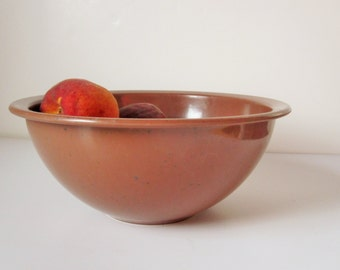 Melmac Bowl - Cinnamon Colored, Flecked 'Brookpark'  - Perfect for Cabin and Picnics, Etc.  - Fun History and Unique Material - Great Color