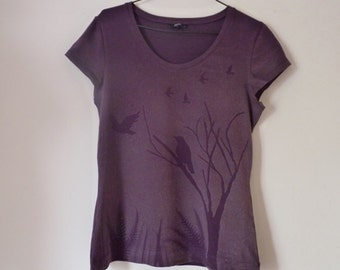 Upcycled ,Raven Bleached T-shirt, size 16