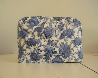 Two Slice Toaster Cover Blue Floral