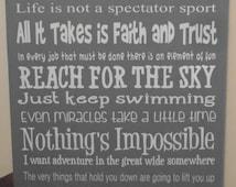 Disney, Disney Wisdom Wood Sign, Disney Movie Quotes