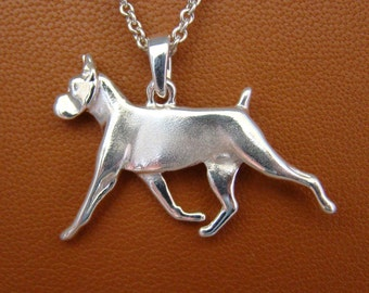 Small Sterling Boxer Moving Study Pendant/Charm