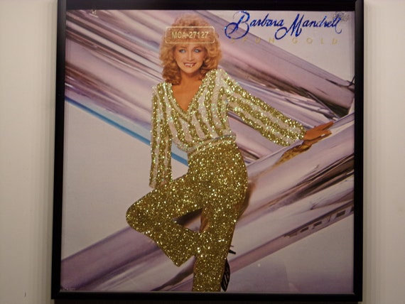 Glittered Record Album - Barbara Mandrell - Spun Gold