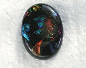 25x36mm Embedded Dichroic Glass Cabochons - TR181