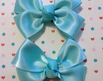 Mint Green Mini Bows/ Pair/ Hair Bows
