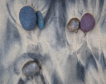 Landscape Photography - Stones at Torrey Pines State Park Beach, California -  8x12