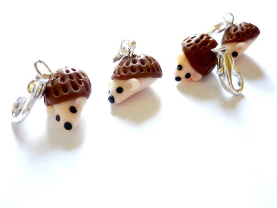 Crochet Stitch Markers Uk : ... stitch markers for crochet, hedgehog crochet markers, row markers -UK