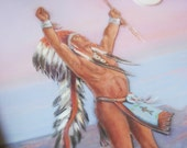 3D Framed Native American Art Print