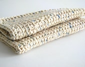 Eco Neutral Crochet Wash Cloths 100% Cotton for Bath or Kitchen