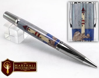 Hand Crafted Lighthouse Wood Pen