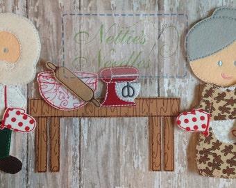 The Gingerbread Boy: Felt Doll Set