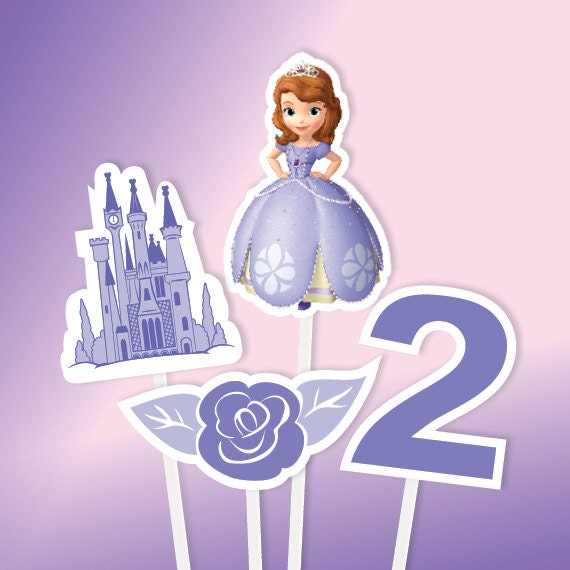 Sofia The First Centerpiece Sofia The First Birthday Any