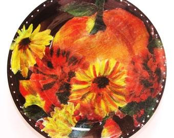 Handmade Decorative Decoupage Plate
