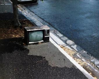 "Australia Photography, Vintage Television, Melbourne, Street Photography, Abandoned TV, 8"" x 10"""