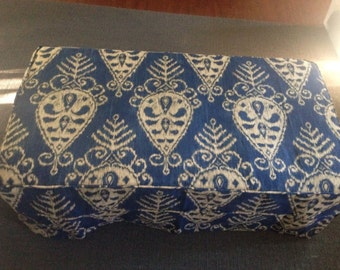 Custom made Ottoman slipcover for Brenna