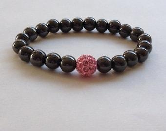 Women stretch bracelet, Hematite bracelet, women bracelet, elastic bracelet, Gemstone.
