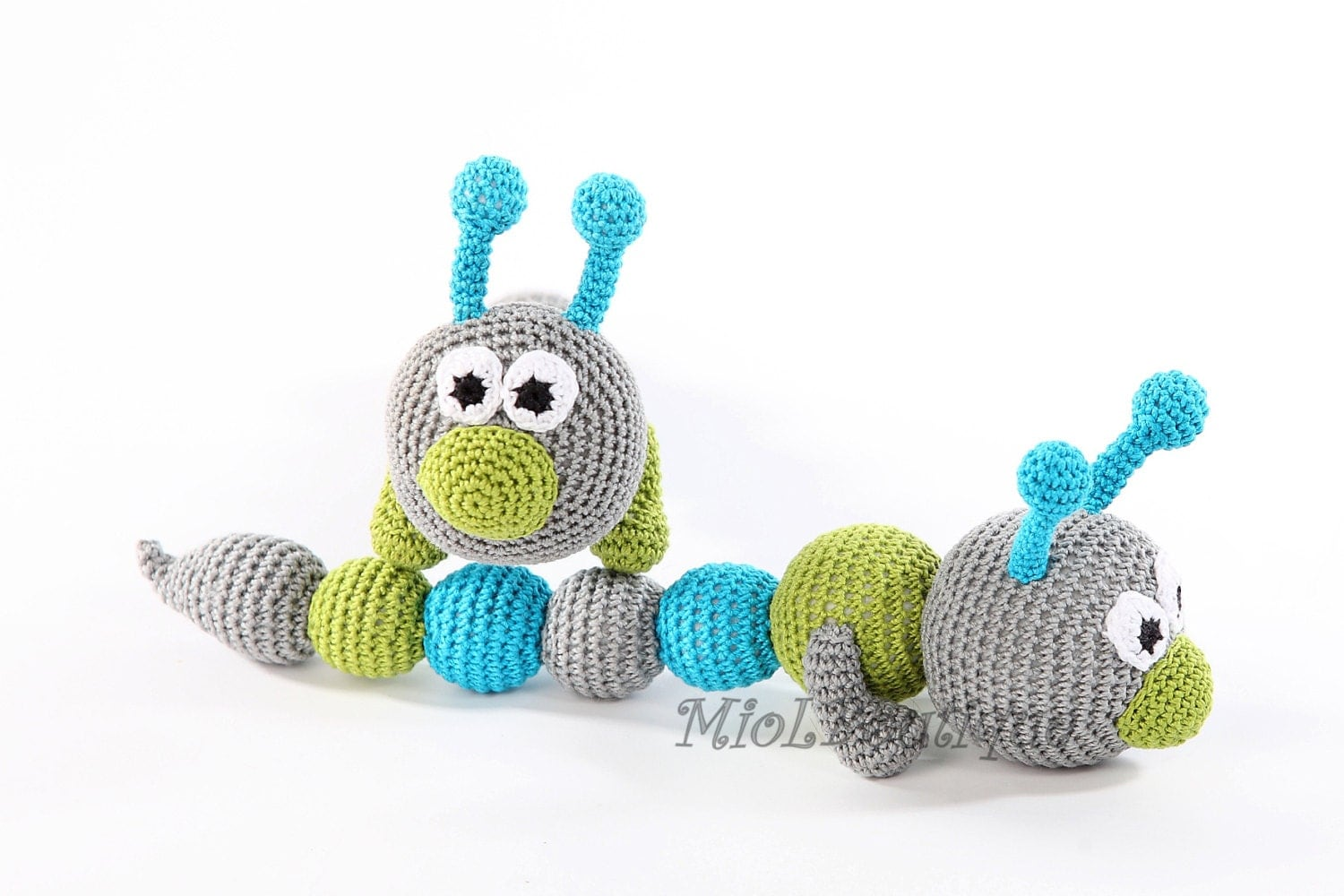 Crochet Toy Rattle Teething Baby Toy Crochet Baby Toy Grasping
