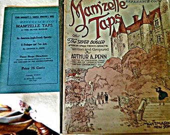 1919 Vintage Music Mam'zelle Taps Operetta by Arthur A Penn