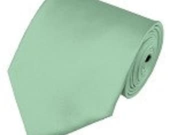 mens Mint necktie custom made many colors