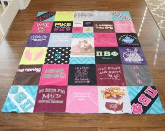 Memory Blanket T-shirt Blanket Memory Quilt - Custom Size - DEPOSIT ONLY