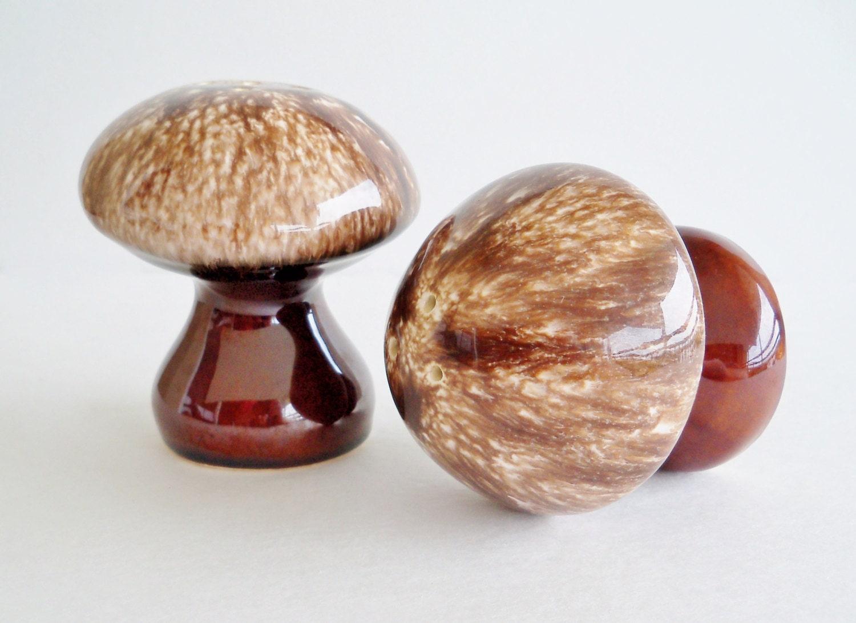 Funky Mushroom Salt And Pepper Shakers