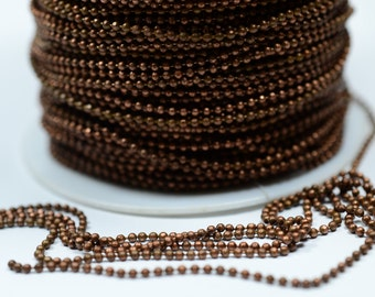 5 Meter 16,5 Feet Copper Plated 1.5 mm  Ball Chain