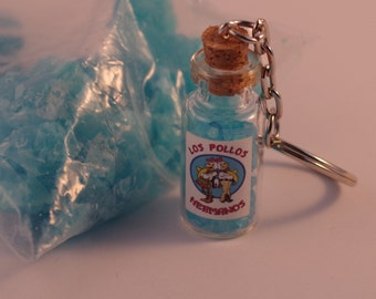Breaking Bad Blue 'Crystal Meth' Key Ring - Los Pollos Hermanos