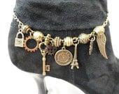 Steampunk Boot Jewelry  Bracelet Anklet #5