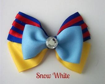 Snow White Hair Bow, Disney Princess Bow, Princess Hair Bow, Hair Accesories