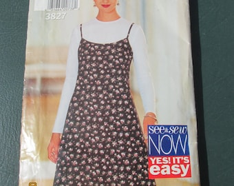 Butterick 3827 - Size 6 8 10 - Patterns Tutorials - Commercial - Dress Sewing Pattern - Easy Sewing Pattern - Womens Sewing