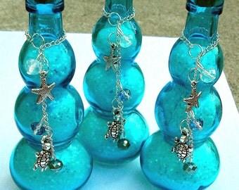 Mermaid Ocean Iridescent Wishing Dust Glass Bottle