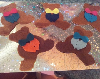 Felt Dressed Teddys appliqué embellishment toppers felting card sizzix diecut scrapping quilting