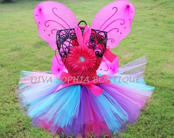 Abby Cadabby Tutu Dress with Wings - Butterfly Tutu Dress with Wings