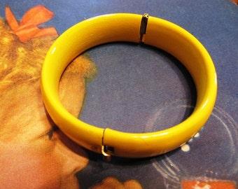 Vintage Bright Yellow Enamel Bracelet