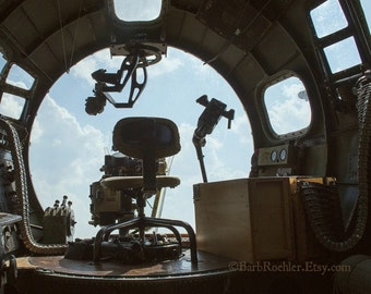 View from a WWII B-17 Flying Fortress Nose - War Memorabilia - Vintage Military Images - 8x10 - Airplane