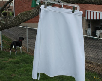 White Knit Wrap Skirt