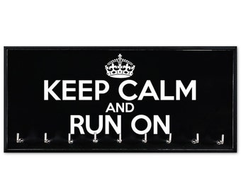 Running Medal Holder - running medals - medal rack - running medal hanger - Keep Calm and Run On