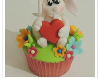 Valentine's Easter Bunny Cupcake PDF Tutorial