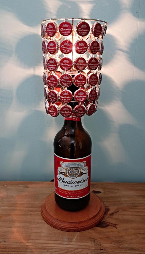 Budweiser 40 Oz Bottle Lamp Complete With Bottle By