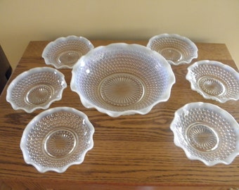 Moonstone Bowls (Set of 7)