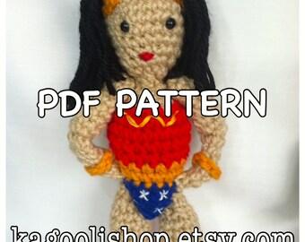 Crochet Wonder Woman **PDF PATTERN**.