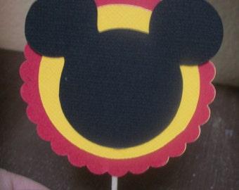 Mickey Mouse Cupcake picks