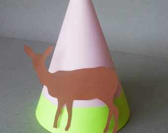 Deer Themed Party Hats